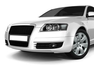 Silvery Business-Class Car