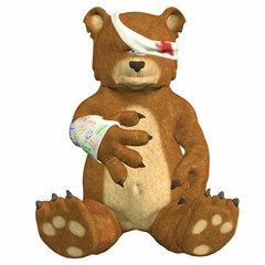 Hurt Teddy Bear
