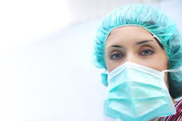 nurse face closeup