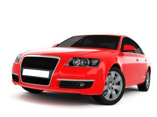 Türaufkleber Schnelle Autos Red Business-Class Car