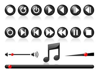 Icones de lecture vectoriels, facilement modifiables
