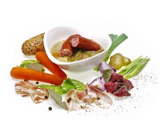 winterliche eintopf gemüse und fleisch