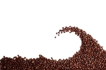 coffee beans wave
