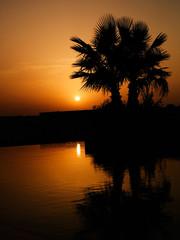 Anochecer en Tunisia