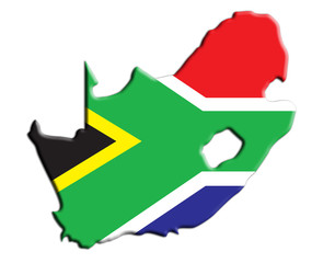 Karte Südafrika