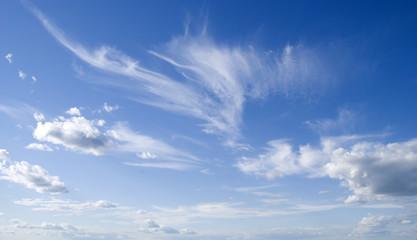 Keuken foto achterwand Hemel dark blue sky and cloud