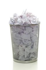 Overflowing Wastebasket