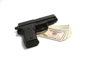 Crime, dollar, gun