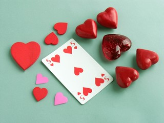 love in playing card