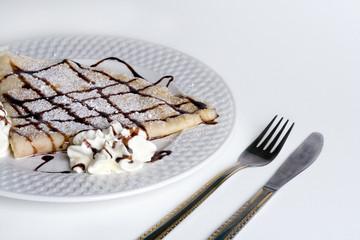Pancake With Chocolate and cream