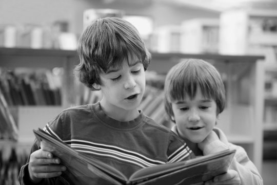 Brother Reading a Book