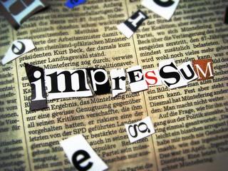 Photo sur Aluminium Journaux Impressum