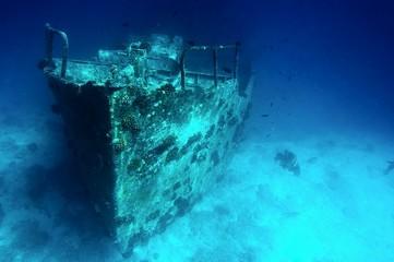 Deurstickers Schipbreuk Sunken ship