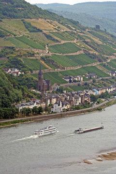 UNESCO Welterbe Mittelrheintal - Weinhänge am Rhein