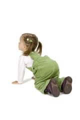 Baby Girl In Green Pants