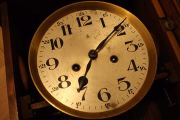 Papiers peints Affiche vintage Clock