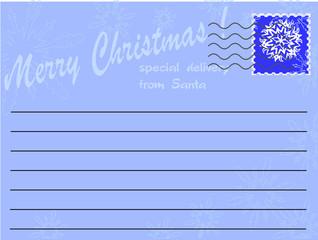 letter from Santa,vector