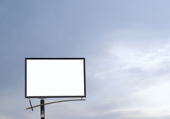 blank billboard against a blue sky. just add your text.