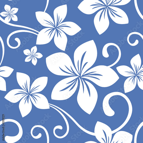 """Seamless Blue Hawaii Pattern"" Stock image and royalty ..."