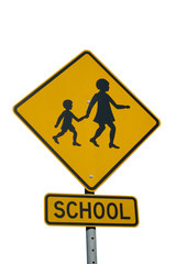 isolated school zone sign