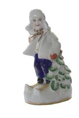 porcelain boy skis pine
