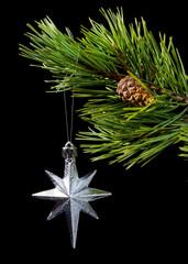 silver star,asterisk cristmas