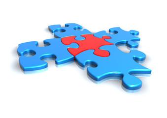 5 puzzle teile