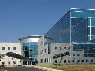 Office Building Glass Exterior Side 1