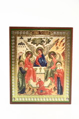 an orthodox icon of the holy trinity