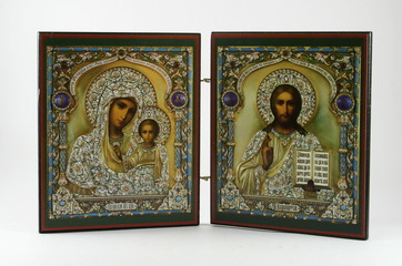 orthodox Icons of mary a christ