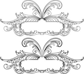 Baroque Banner Two Styles: Traditional and Calligraphy.