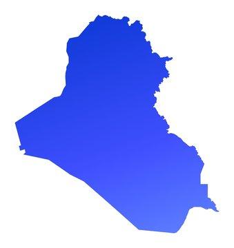 blue gradient Iraq map