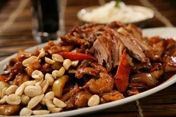 Spicy pork roast with peanuts