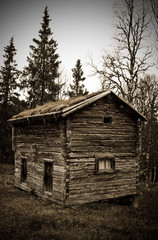 old timber house