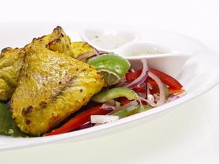 indischer tandoori red snapper filet