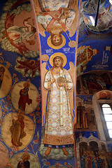 Icons on the walls in Spaso- Preobrazhenskiy the cathedral