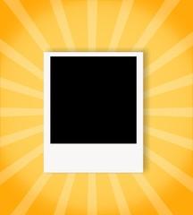Polaroid con sfondo colorato