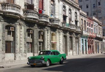 Tuinposter Oude auto s Havana Street