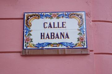 Havana street sign