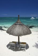 Beach umbrella top view
