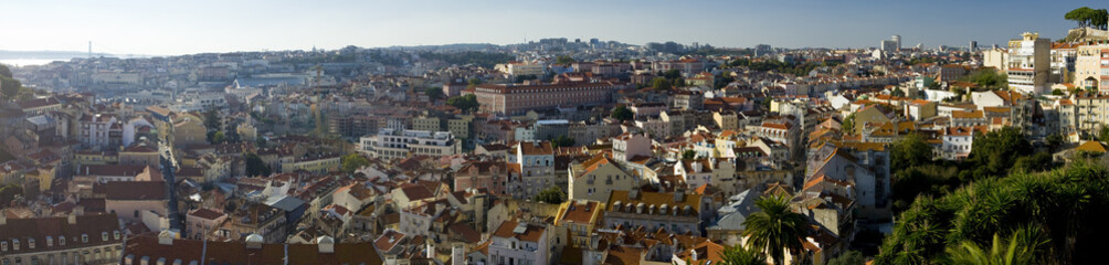 Panoramic view over the city of Lisbon