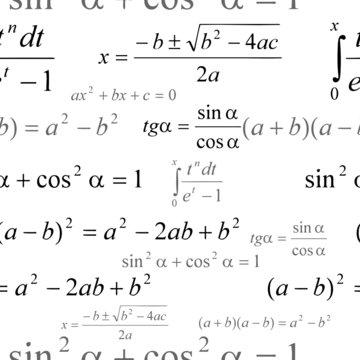 Seamlessly vector wallpaper mathematics on white