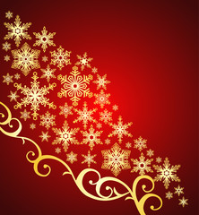snowflakes background / christmas ornament / vector