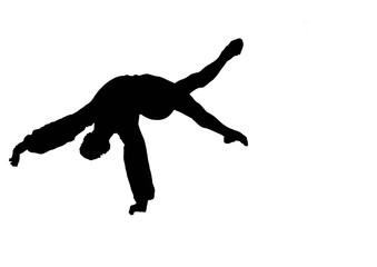 silhouette acrobatica