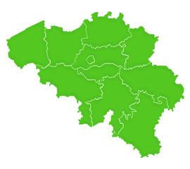 Carte Belgique Vert Satin