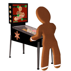 Gingerbread Man Pinball