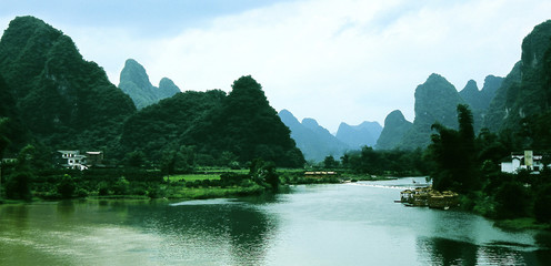 mountains and river of the Lijiang in Guilin