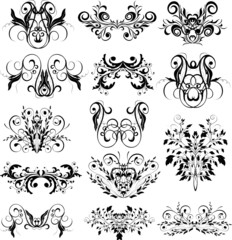 Ornaments. Design elements - vector illustration