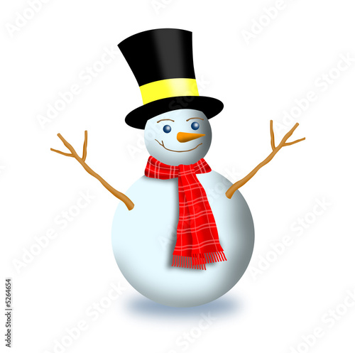 c9d74824aa9c3 Frosty the snowman with scarf