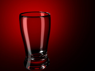 glass on a red
